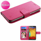 Universal MyJacket Wallet Slim Flap Case ID Card Slots Pink For Cell Phones