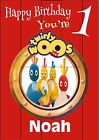 Personalised Twirly Birthday Greeting Card - A5 + A4 Sizes
