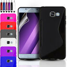 SLIM SILICONE GEL CASE COVER & SCREEN PROTECTOR FOR SAMSUNG GALAXY A3 A5 (2017)