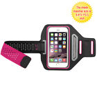 Pink Black Sports Gym Running Jogging Walking Armband Case Phone Holder Strap