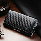 Premium Executive Belt Loop Cell Phone Clip Pouch Holder Case Strap Carbon Fiber