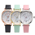 Fashion Women Watches Leather Analog Quartz Bracelet Stainless Steel Wrist Watch