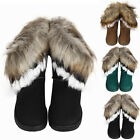 Winter WOMEN WINTE WARM HIGH ANKLE SNOW BOOTS RABBIT FUR SUEDE TASSEL SHOES LOT