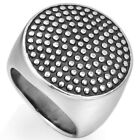 Size 7-15 Stainless Steel Signet Biker Ring Cocktail Punk Polish Shield School