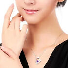2017 New Women Aesthetic Necklace Jewelry Pendant Inlaid Crystal Heart Fashion
