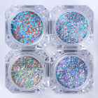 2g/Box Colorful Nail Art Sequins 1mm Glitter Manicure Tips Hexagon Pattern 5-8