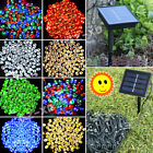 Solar Powered 50/100/200 LED String Fairy Lights Garden Outdoor Xmas Party Lamp