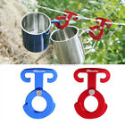4pcs Aluminium Camping Tent Rope Line Tighten Guyline Carabiner Holder Hanger