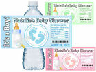 30 BABY SHOWER WATER BOTTLE LABELS BABY FEET GLOSSY