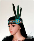Indian Feather Headband Flapper Headpiece Performance Show Hair Accessory Unique