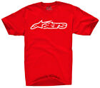 Alpinestars Blaze Classic Red/White T-Shirt Men's Sizes