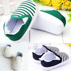Toddler Newborn Girls Boys Cotton Shoes Stripe Slip On Anti-Slip Sneakers Unisex