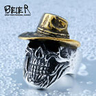 New Man's Stainless Steel Ring Cowboy Vaquero Titanium Steel Rings A417