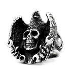 New Man's Stainless Steel Ring Eagle Skull Titanium Steel Rings A435