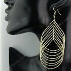 Fashion 3-12Pairs Big Women Long Gold Water Drop Earrings Wholesale Jewelry Lots