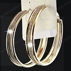 New Hot Sale Gold Frosted Hoop Earring for Womens Fashion Wedding Bridal Jewelry