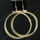 Hot Sale 3-12Pair Women Big Circle Gold Drop Earrings Wholesale Jewelry Lots New