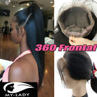 Real 360 Lace Full Frontal Closure Virgin Human Hair Pre Plucked Baby Hair SU837