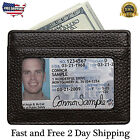 Men Women RFID Leather Wallet Blocking Front Pocket Slim Credit Card ID Holder