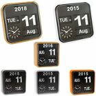 Karlsson Big Flip & Mini Flip Retro Wall Clocks with Day, Date, Year & Time