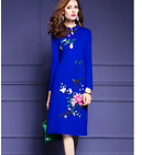 Women's classic embroidery formal dinner cocktail party cheongsam evening dress