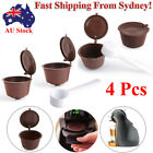 2/4 xRefillable Reusable Compatible Coffee Capsules Pods for DOLCE GUSTO Machine