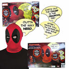 Rubies Adults Official Marvel Deadpool Deluxe Mask & Speech Bubble Costume Set