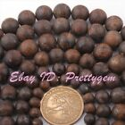 "Natural Bronzite Brown Frost Round Gemstine Beads Spacer Strand 15"" 6,8,10,12mm"