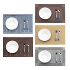 4x/6x PVC Insulation Tableware Placemats Place Mat Dining Kitchen Pad Rectangle