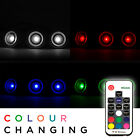 10 x 30mm Woodside RGB Colour Changing LED Deck Lights Kitchen/Garden Lighting