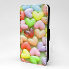 Coloured Hearts Print Design Pattern Flip Case Cover For Samsung - P1083