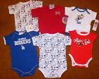 TEAM SPORTS ONE-PIECES FOR BABY, SIZES 0-3M to 12M, BRAND NEW. FREE SHIPPING!