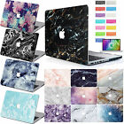 Marble Painted Rubberized Hard Case Cover+KB+SP For New Macbook Pro Air 11 13 15