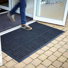 Large Outdoor Rubber Entrance Mats Anti Slip Drainage Flooring 3 Sizes BiGDUG