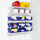 Commercial Twin Slot Wall Mounted Anti Bacterial Hygienic Shelving Components