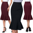 KK Fashion Womens 40s Vintage Style OL High Waist Bodycon Mermaid Pencil Skirt