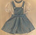 THE WIZARD OF OZ * DOROTHY* Dress Blue & White Gingham Pattern Costume Dress up