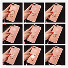 Luxury Cute Chrome Mirror Bling Diamond phone Case Cover with Metal Ring Stand