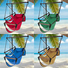 Outdoor Hanging Hammock Rope Chair Porch Swing Seat Camping Patio w Carrying Bag