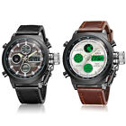 Kyпить OHSEN Sport Waterproof Mens Analog Digital Black Brown Leather Band Wrist Watch на еВаy.соm