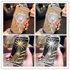 For iPhone 6S 7 Plus Diamond Pendant Crystal Bling Pearl Mirror TPU Case Cover