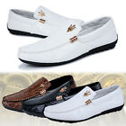 Men's Flat New Trend Casual Sneakers Leather slip on Driving loafer Canvas Style