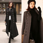 Korean Fashion Women's Double Breasted Long Wool Blend Coat-2 sizes/colors