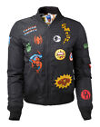 MARVEL BOMBERJACKE GIRLS WITH HERO PATCHES GRÖSSE XS,S,M,L,XL NEU