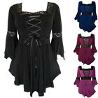 Womens Casual Long Sleeve Tee Shirt Tops Loose Blouse Ladies Casual Plus Size
