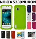 AMZER Silicone Jelly Skin Cover+ xtra Case Screen Protector For Nokia 5230 Nuron
