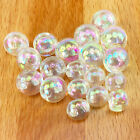 5 Sparkly Round irridescent buttons sizes 8mm 10mm & 11.5mm shank on back