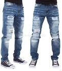 Peviani Mens Boys Patch Frayed Ripped Star Jeans Hip G Hop Club Wear Brkwd SWB