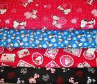 SNOOPY #7  FABRICS Sold INDIVIDUALLY NOT AS A GROUP By the HALF YARD