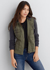 AEO American Eagle Outfitters Women Layered Utility Jacket Olive XXS-L NWT